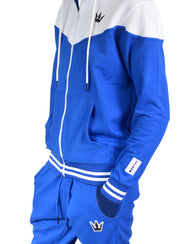 Worthy Sweatsuit Royal Blue & White