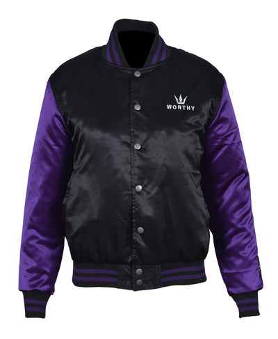 Women's Worthy Varsity Bomber - Purple