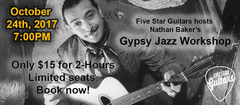 Gypsy Jazz Workshop 10/24/17