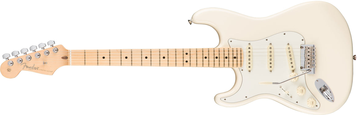 American Pro Stratocaster Left-Hand, Maple Fingerboard, Olympic White
