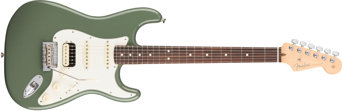 American Pro Stratocaster HSS ShawBucker, Rosewood Fingerboard, Antique Olive