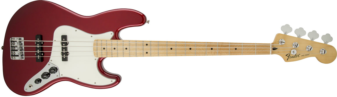 Standard Jazz Bass, Maple Fingerboard, Candy Apple Red