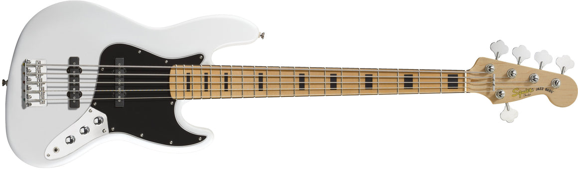 Vintage Modified Jazz Bass V, Maple Fingerboard, Olympic White