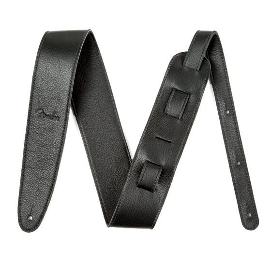 Fender 2.5 Artisan Leather Strap, Black