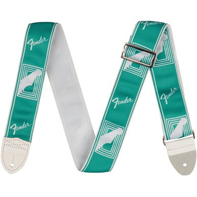 Fender Custom Color Monogrammed Strap Sea Foam Green