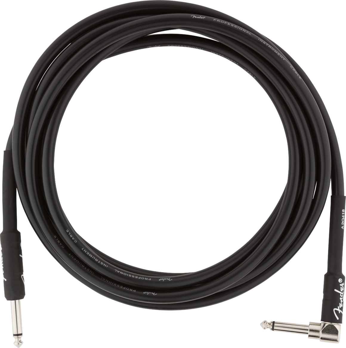Fender PRO 10' ANGL INST CABLE BLK