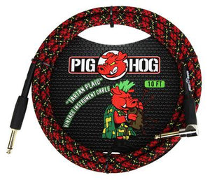 "Pig Hog ""Tartan Plaid"" Instrument Cable, 10ft Right Angle"