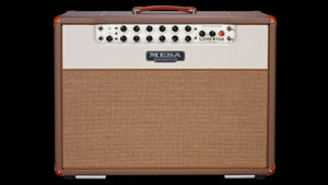 Lone Star Special 2X12 Combo Guitar Amplifier Cocoa Vinyl Cream Front Panel Tan Grille - Front