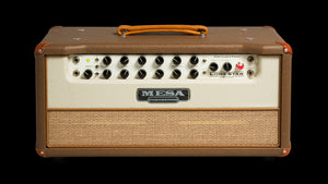 Lone Star Special Guitar Amplifier Head Cocoa Vinyl Cream Front Panel Tan Grille - Front