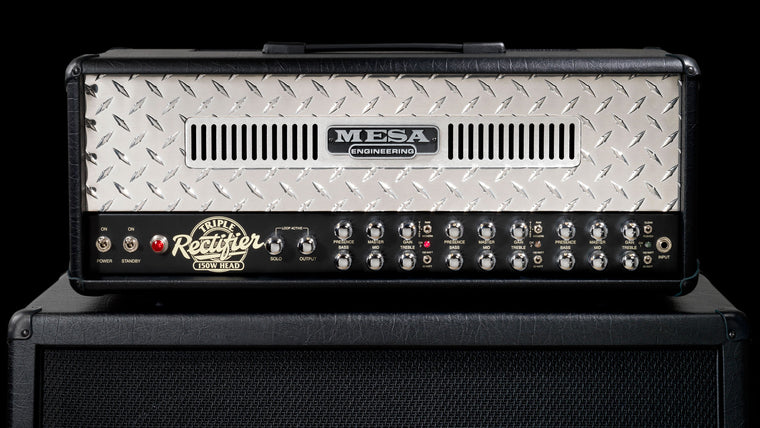 Triple Rectifier Guitar Amplifier Head Black Vinyl - Front