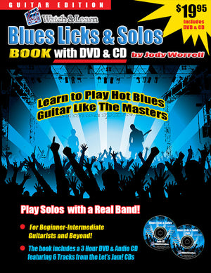 Blues Licks & Solos Book with DVD