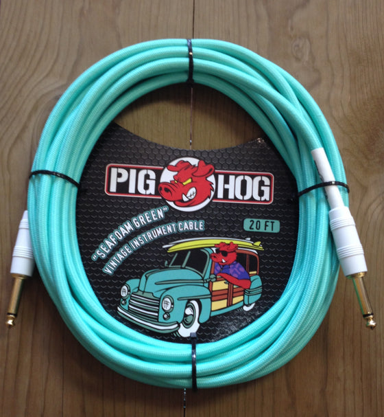 "Pig Hog ""Seafoam Green"" Instrument Cable 20'"