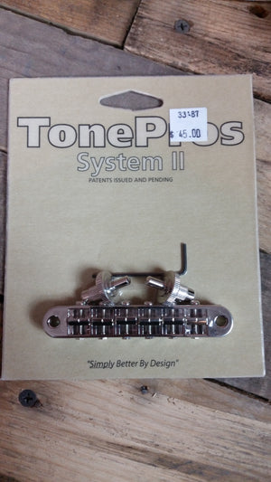 Tone Pros T3BP‑N Gotoh Nashville Tune‑O‑Matic Nickel
