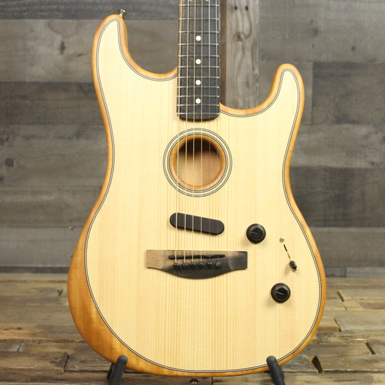 Fender American Acoustasonic Stratocaster Natural With Bag