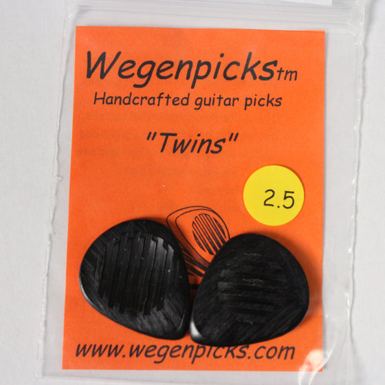 "Wegenpicks TW250 2.5mm Black ""Twins"" 2-Pack"