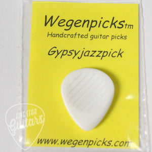 "Wegenpicks 3.5mm White ""Gypsyjazzpick"" (Right-handed Bevel)"