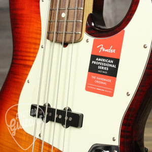 Fender Limited Edition American Professional Jazz Bass Flame Maple Top Aged Cherry Burst B-Stock