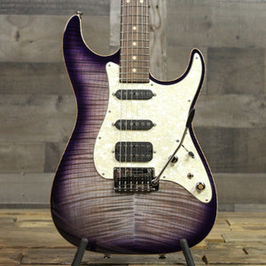 Tom Anderson Drop Top Classic Shorty Abalone to Transparent Purple Burst with Binding