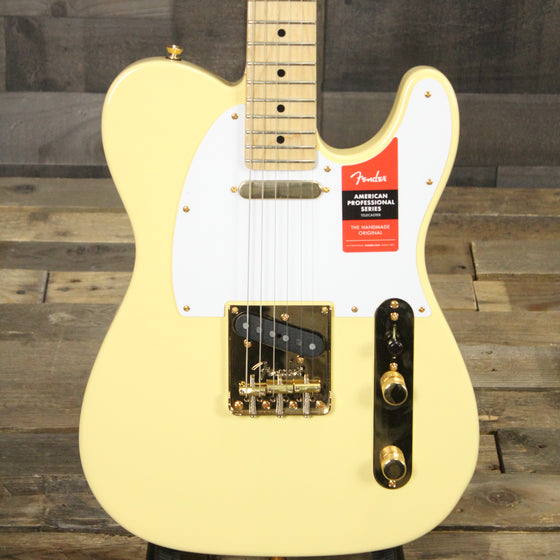 Fender Limited Edition American Professional Telecaster, Vintage White with Gold Hardware