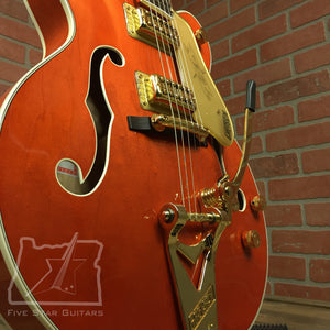 Gretsch G6120T Players Edition Nashville w/ String-Thru Bigsby, Filter'Tron Pickups, Orange Stain