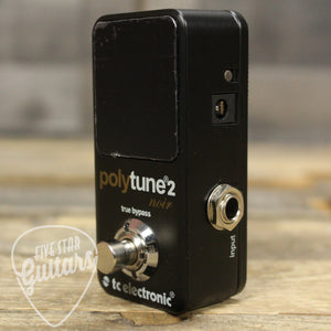 Pre-Owned TC Electronic PolyTune 2 Noir Mini Polyphonic Tuning Pedal
