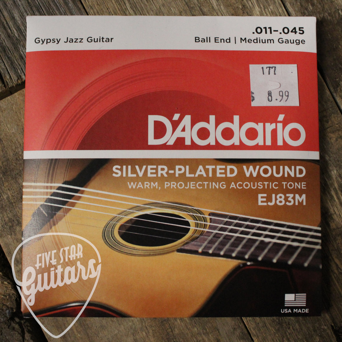 D'Addario EJ83M Gypsy Jazz, Ball End, Medium, 11-45