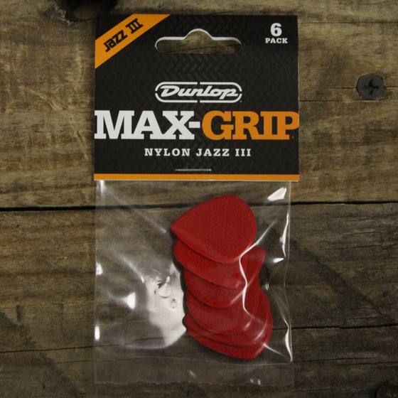 Dunlop Max Grip Jazz III 6-Pack Red