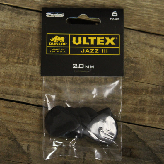 Dunlop Black Ultex Jazz III 2.0 6-Pack