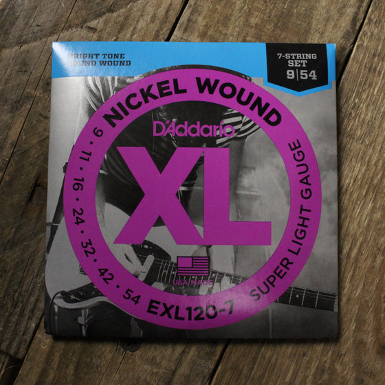 D'Addario EXL120-7 7-String Electric Guitar Strings