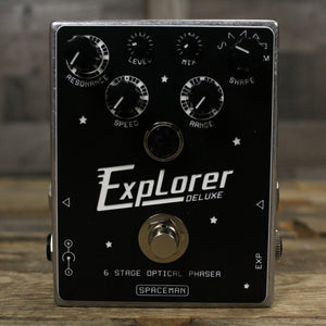 Spaceman Effects Explorer Deluxe Silver 6 Stage Optical Phaser Pedal