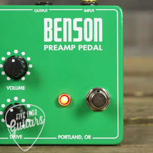Benson Amps Preamp Pedal Five Star Guitars Exclusive Ltd Ed. Run in 5SG808 Green