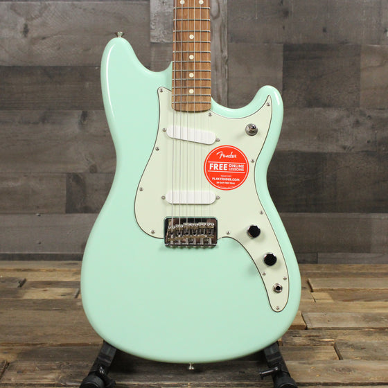 Floor Model Fender Duo Sonic Pau Ferro Surf Green