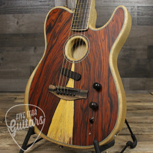 Acoustasonic Telecaster, Exotic Cocobolo Top with Case