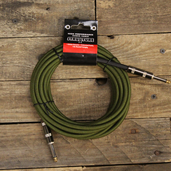 Strukture 18.6ft Instrument Cable, Woven - Military Green