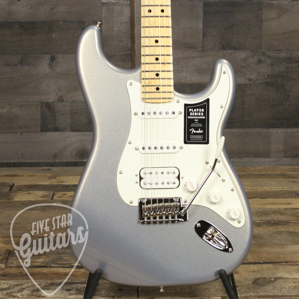 Fender Player Stratocaster HSS Maple Fingerboard Electric Guitar Silver