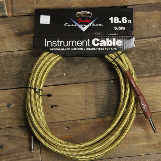 Fender Custom Shop 18.6' Instrument Cable - Tweed