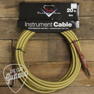 Fender Custom Shop 20' Instrument Cable - Tweed