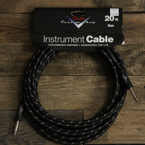 Fender Custom Shop 20' Instrument Cable - Black Tweed