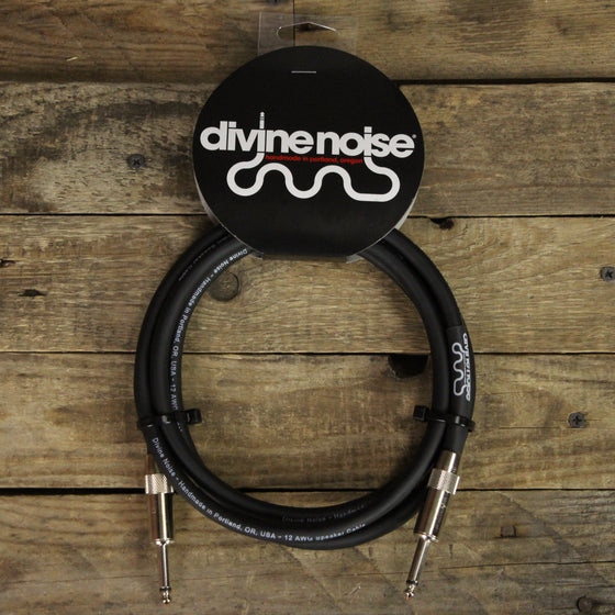 Divine Noise 6ft 12 Gauge Speaker Cable - Straight to Straight Black