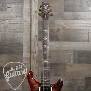 PRS Custom 24-08 - Charcoal Cherry Burst w/ Hard Shell Case