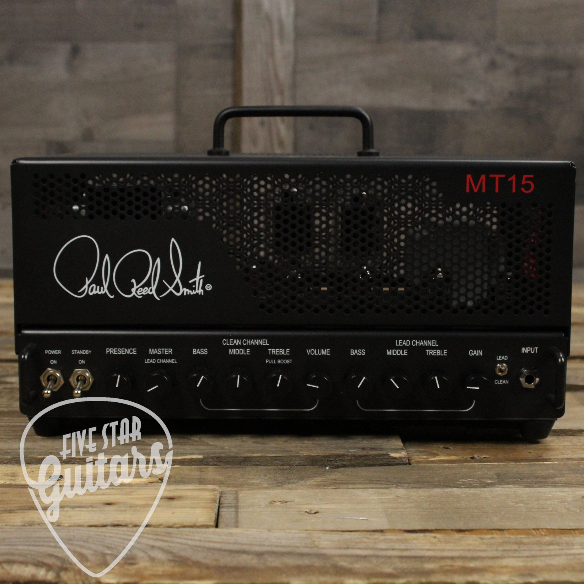 prs mark tremonti mt 15 15 watt tube guitar amp head black five star guitars. Black Bedroom Furniture Sets. Home Design Ideas