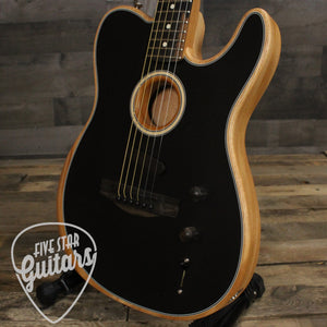 Fender Acoustasonic Telecaster Black w/ Bag