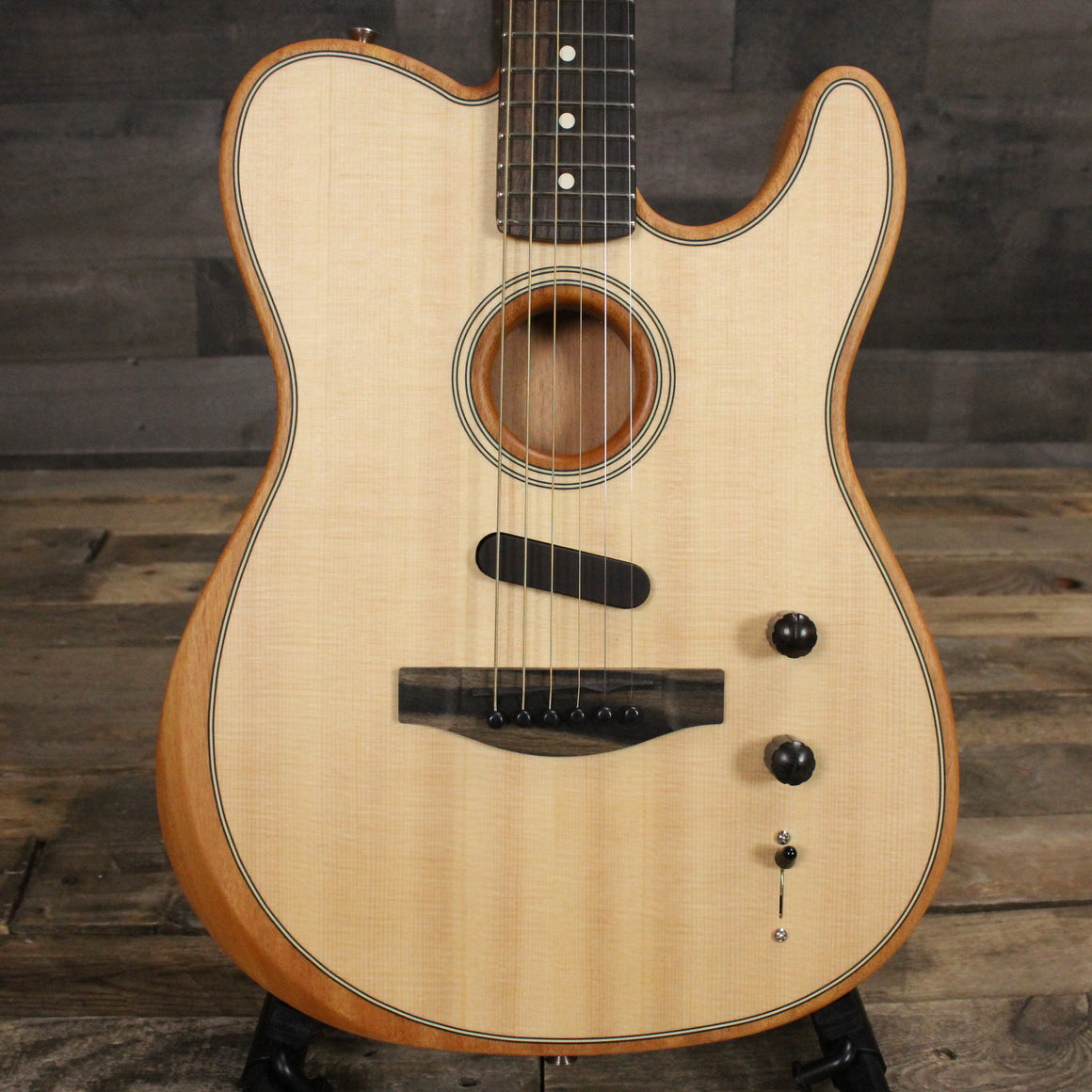 Fender Acoustasonic Telecaster Natural w/ Bag