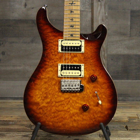 PRS SE Custom 24 Limited Edition Roasted Maple - Tobacco Sunburst