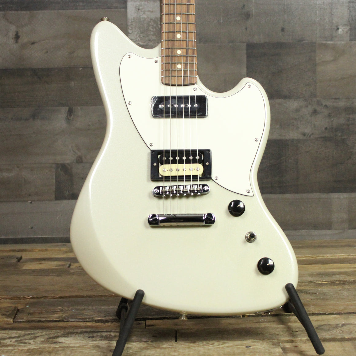 Fender Alternate Reality Powercaster Electric Guitar White Opal