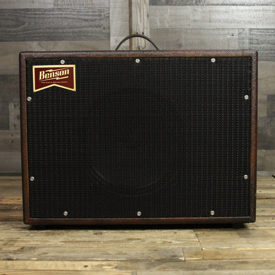 Benson Monarch Reverb Combo Guitar Amplifier Premium Bourbon Burst Finish Black Grill Cloth