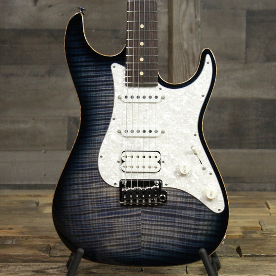 Suhr Standard Plus Faded Trans Whale Blue Burst HSS With Deluxe Gig Bag