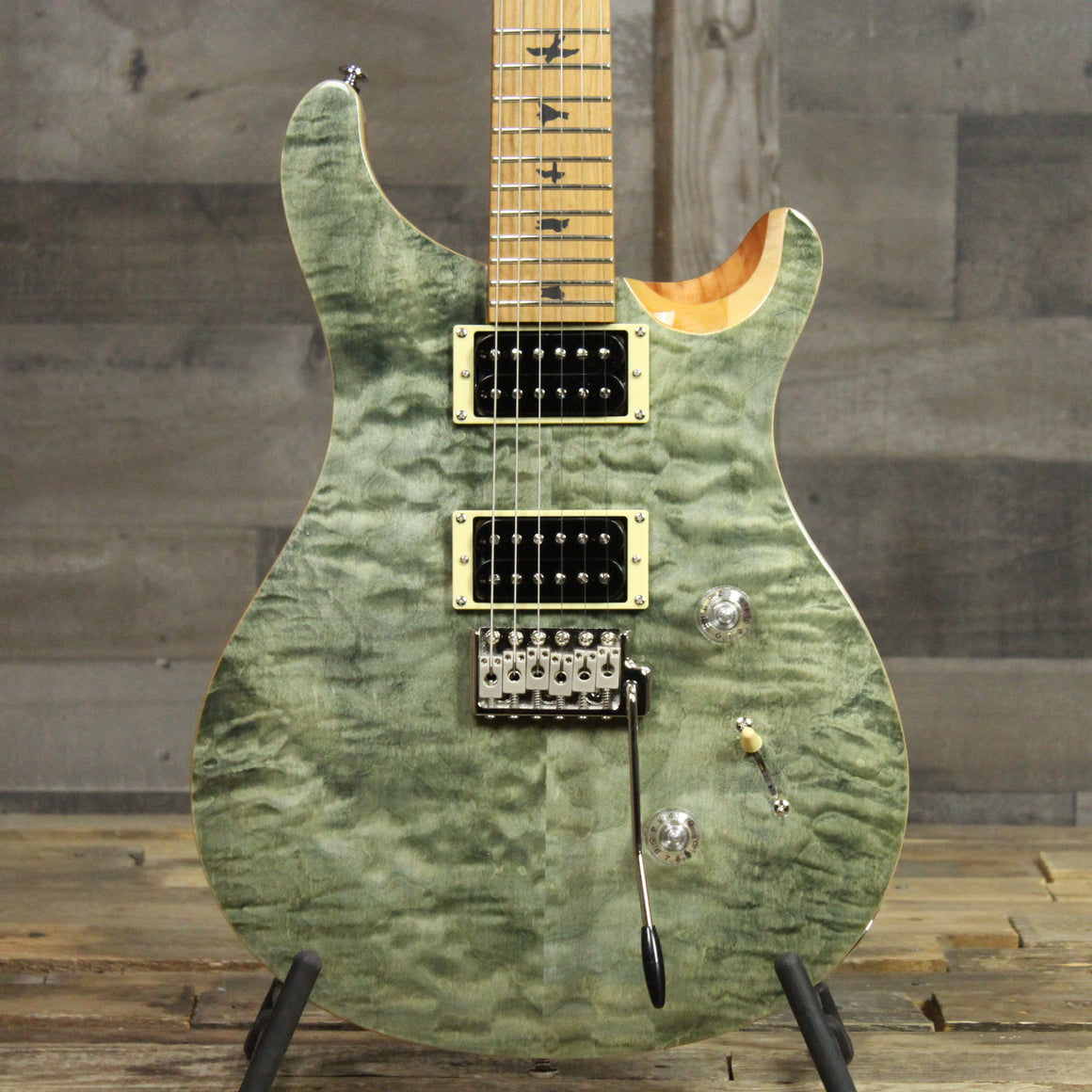 PRS Roasted Maple Limited SE Custom 24 - Trampas Green