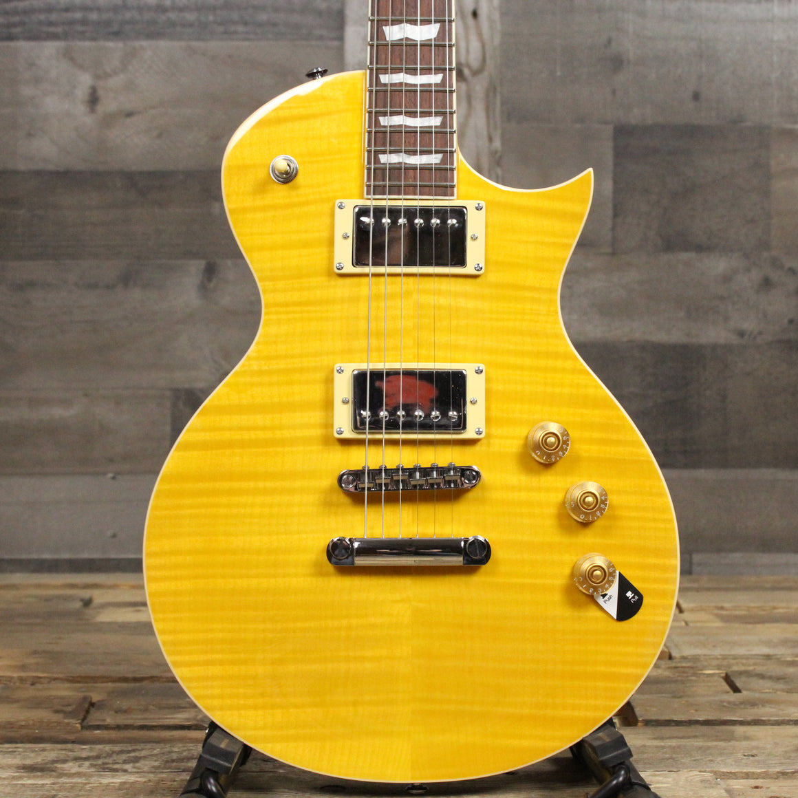 LTD EC-256 - Lemon Drop with Flamed Maple Top