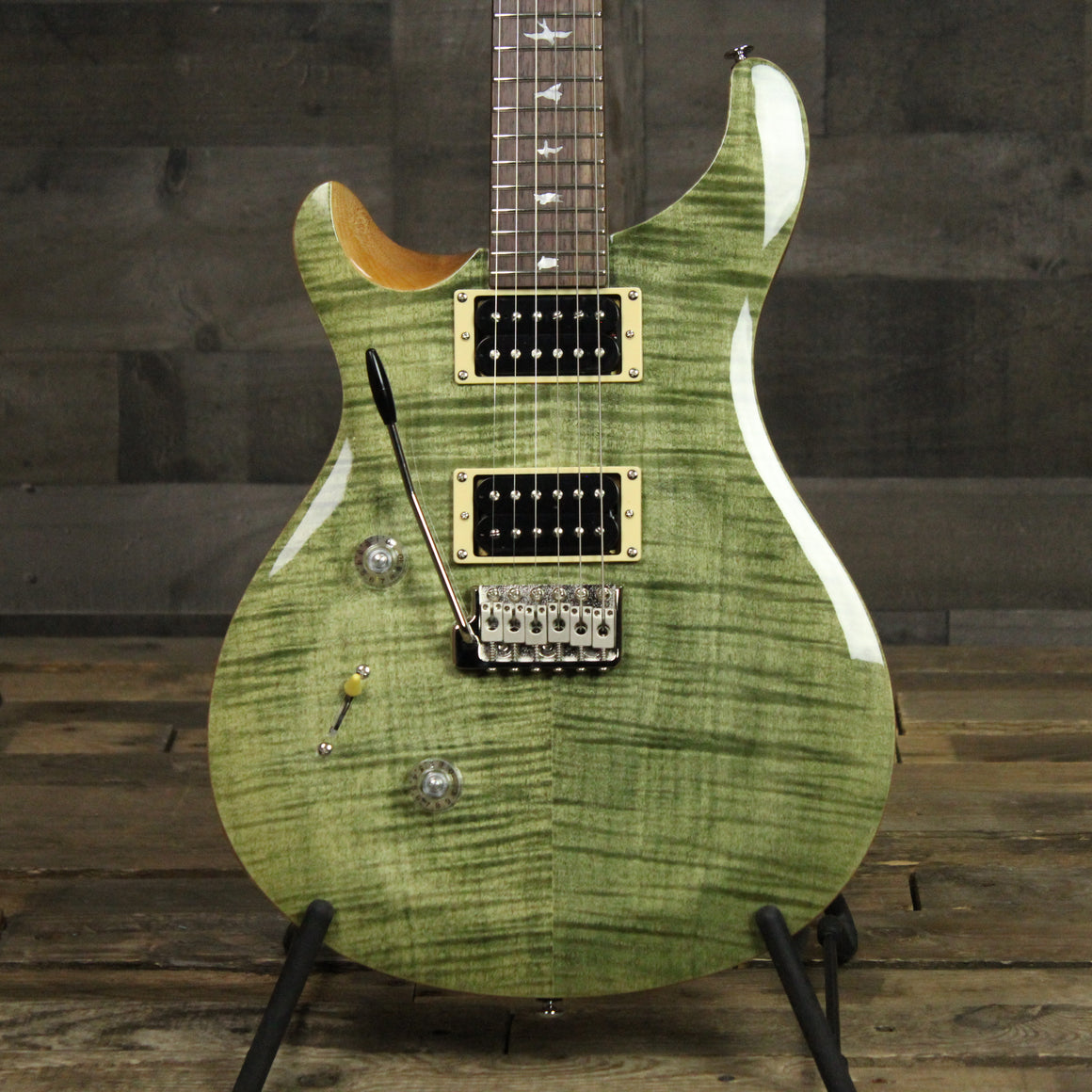 PRS SE Custom 24 Lefty - Trampas Green
